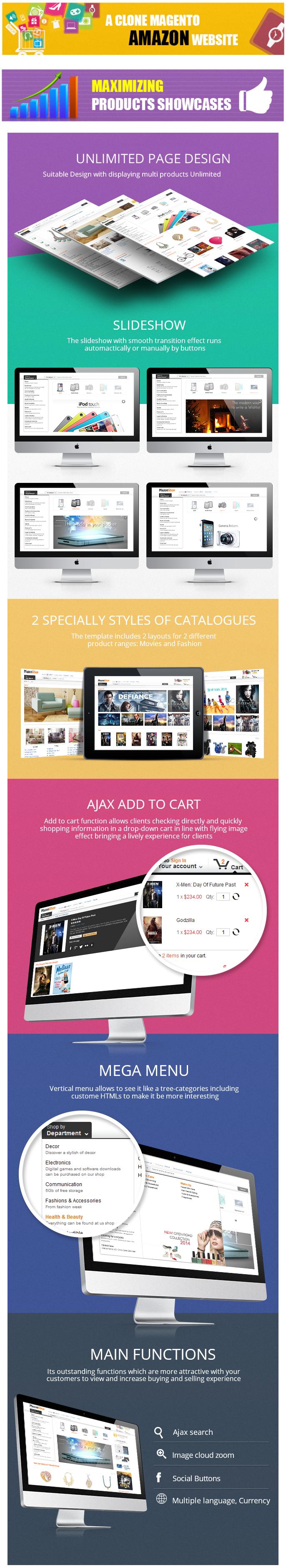 Magento Amazon Theme   Amazon Web Store Theme