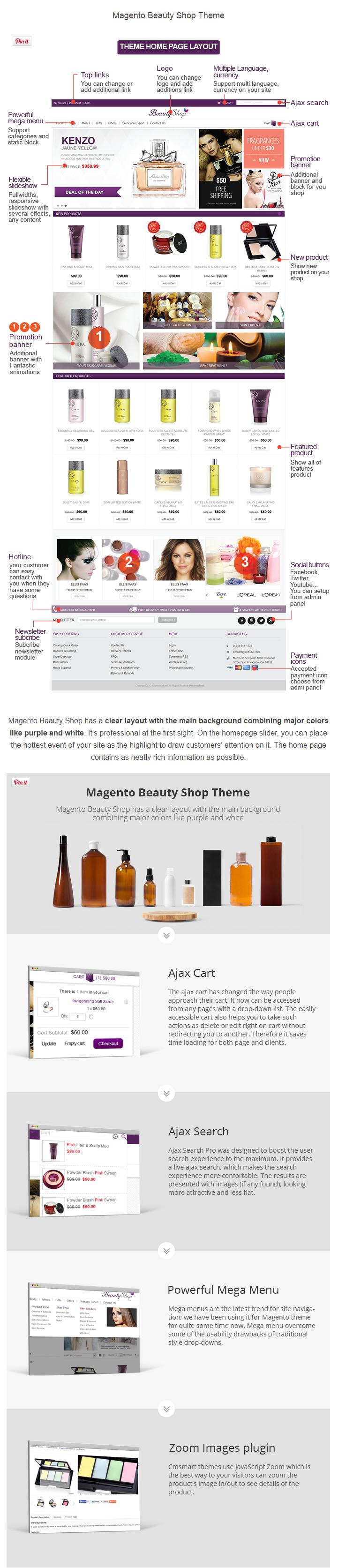 Magento Beauty Shop Theme