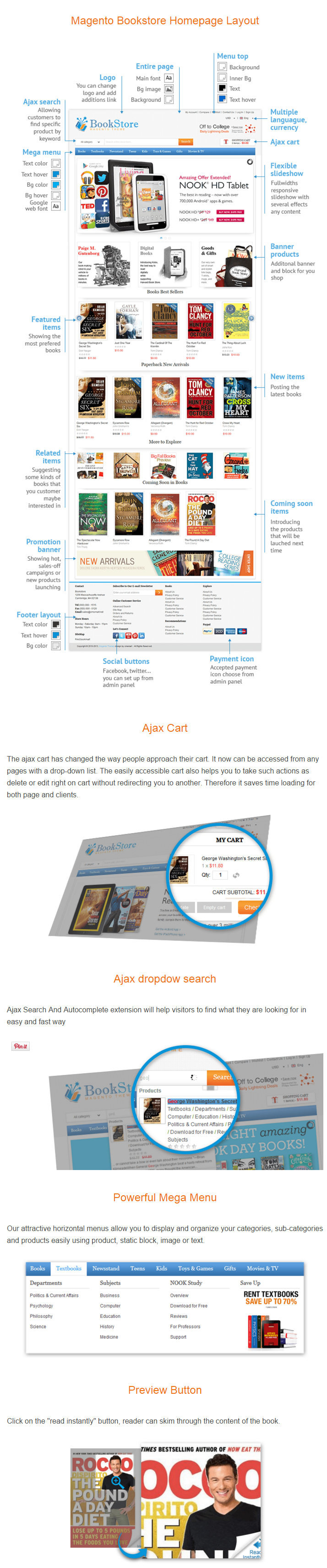 Magento Bookstore Theme