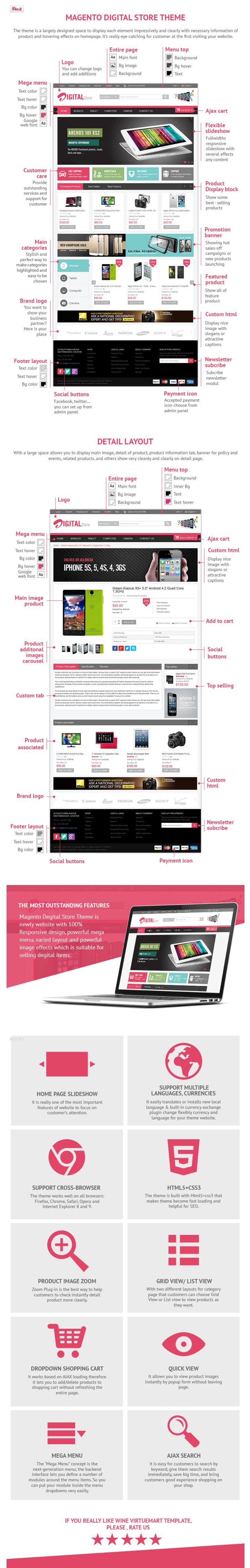 Magento Digital Store Theme Responsive Magento Digital Store Theme