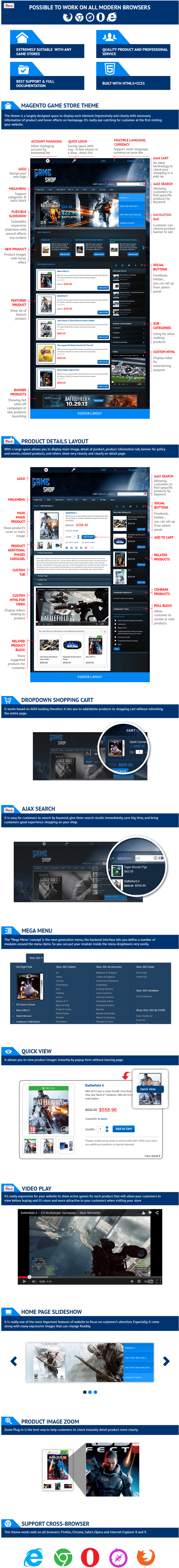Magento Game Store Theme   Game Template