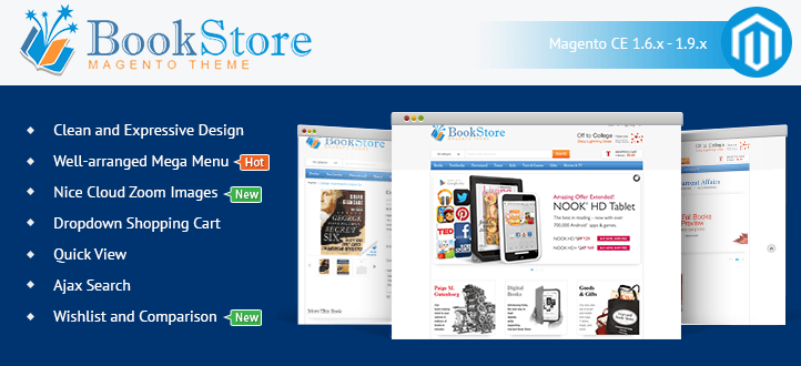 banner-book store theme