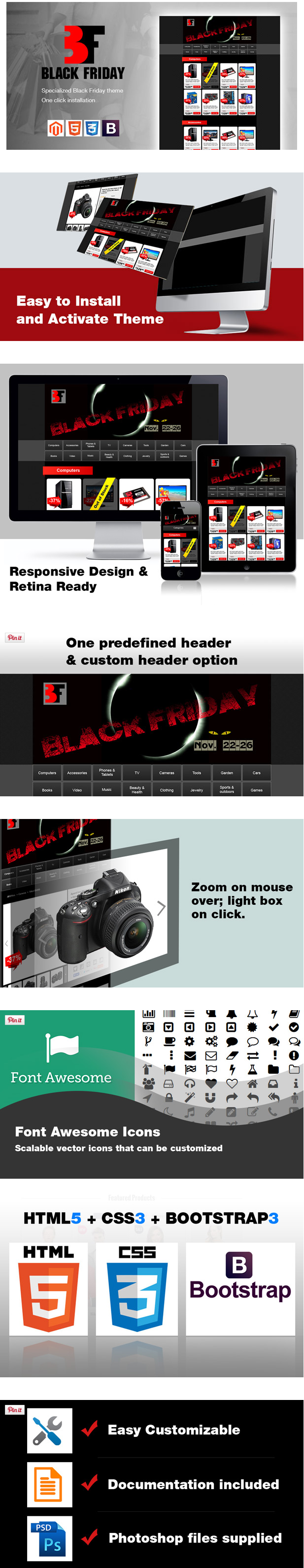 Black Friday One Page Template