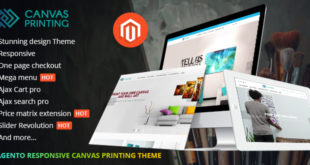Magento Theme Responsive Canvas, Wall Art Printing Website