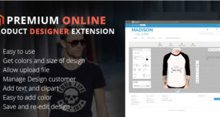 Magento Online Product Designer Extension for Online Printing