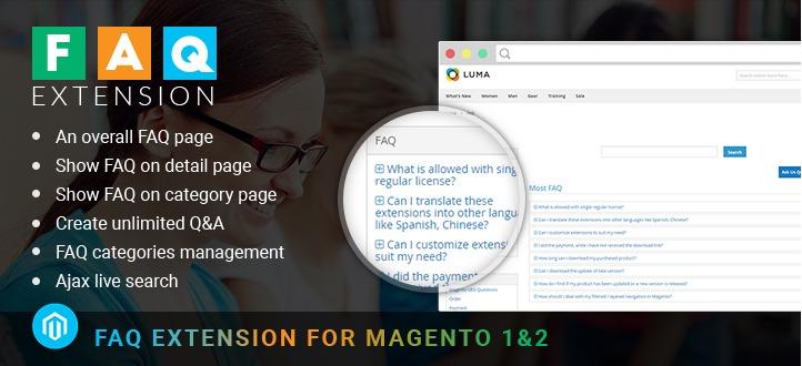 Magento FAQ extension banner
