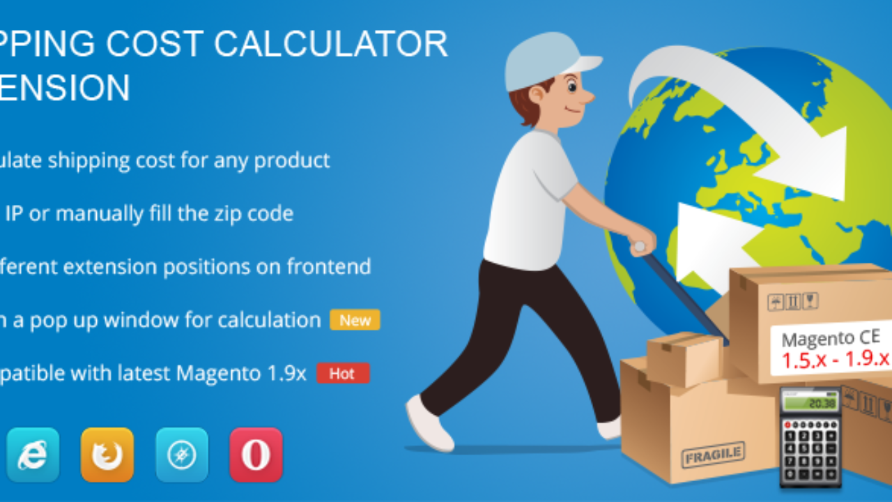 Magento Extension Shipping Cost Calculator