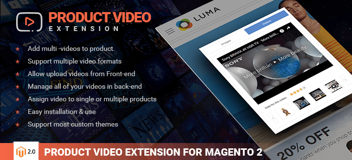 Magento product video extension with 7 styles performance